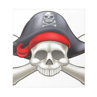 Pirate Skull and Crossbones Notepad