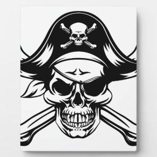 Pirate Skull and Crossbones Plaque