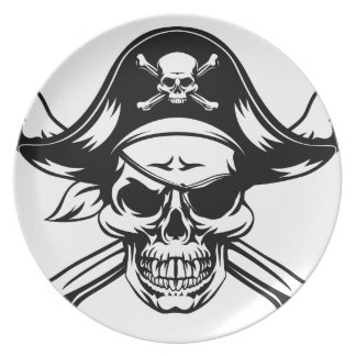 Pirate Skull and Crossbones Plate