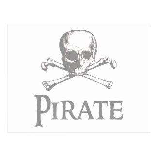 Pirate Skull and Crossbones Postcard