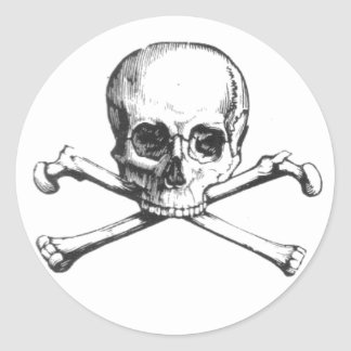 Pirate Skull and Crossbones Sticker