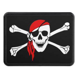 Pirate skull and crossbones tow hitch covers