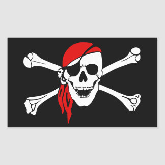 Pirate Skull and Crossbones with Red Bandana