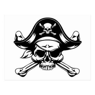 Pirate Skull and Crossed Bones Postcard