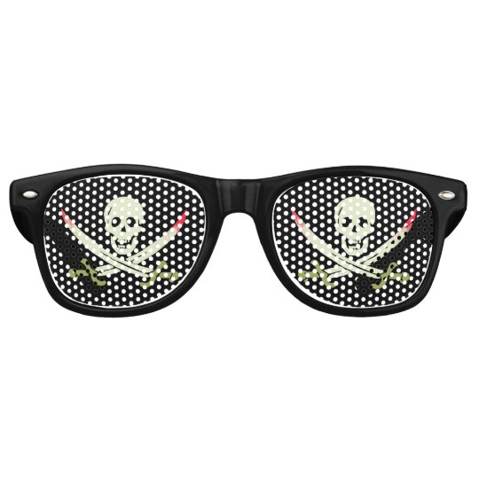 Pirate Skull and Crossed Cutlasses Party Shades