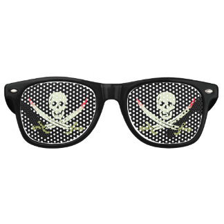 Pirate Skull and Crossed Cutlasses Retro Sunglasses