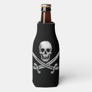 Pirate Skull and Sword Crossbones (TLAPD) Bottle Cooler