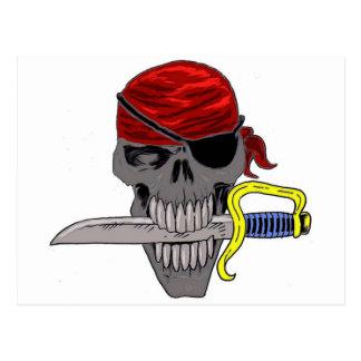 Pirate Skull Art Postcard
