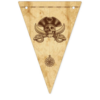 Pirate Skull Birthday Bunting Flags