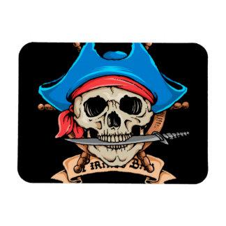 Pirate Skull Biting Knife Magnet