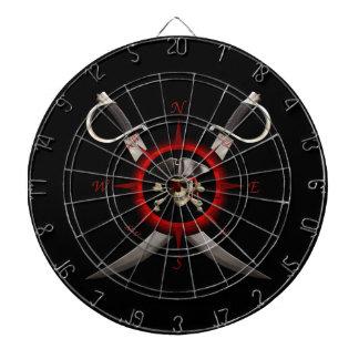 Pirate Skull Compass Rose Dartboard