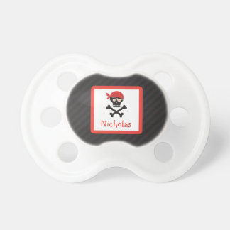 Pirate Skull Crossbones Personalized Pacifier