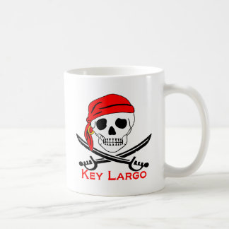 Pirate Skull Key Largo Key West Coffee Mug