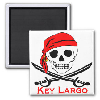 Pirate Skull Key Largo Key West Magnet