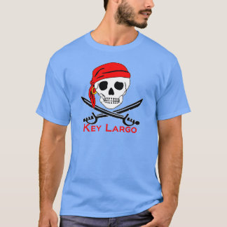 Pirate Skull Key Largo Key West T-Shirt