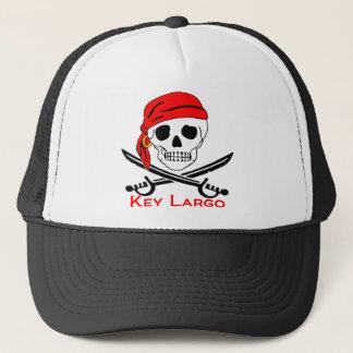 Pirate Skull Key Largo Key West Trucker Hat