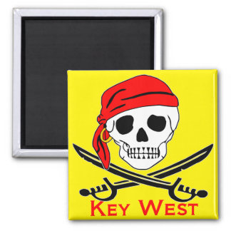 Pirate Skull Key West Magnet