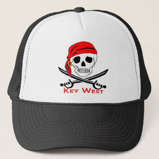 Pirate Skull Key West Trucker Hat