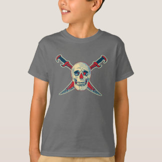 Pirate (Skull) - Kids' Basic Hanes Tagless Comfort T-Shirt
