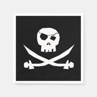 Pirate Skull Paper Napkin