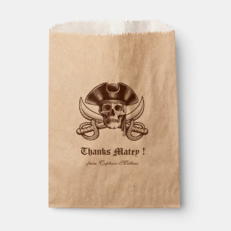 Pirate Skull Party Birthday Party Favour Bag
