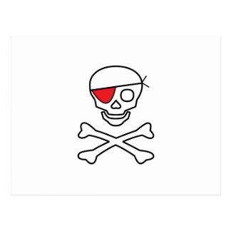 Pirate Skull Post Card