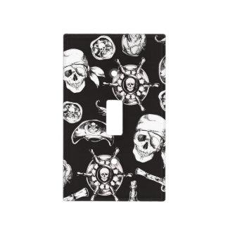 Pirate Skull Ship Wheel Light Switch Cover