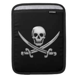 Pirate Skull & Sword Crossbones (TLAPD) iPad Sleeve