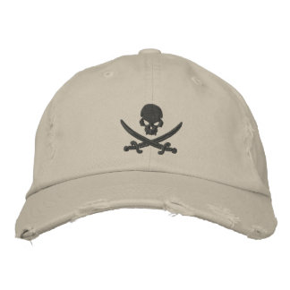 Pirate Skull Swords Embroidered Hats