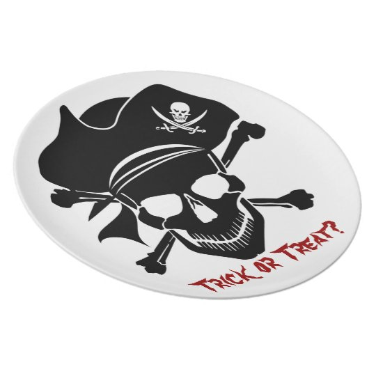 Pirate Skull with Cross Bones Plate