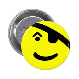 Pirate Smiley 2 Inch Round Button
