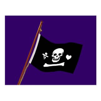 Pirate Stede Bonnet Jolly Roger Fflag Postcard