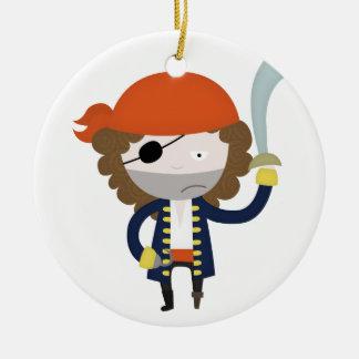 Pirate stereotype ceramic ornament