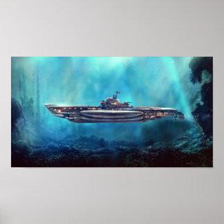 Pirate Submarine Poster