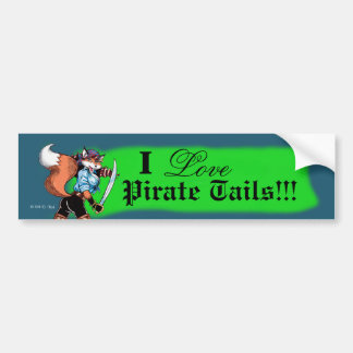 Pirate Tails Bumper Sticker