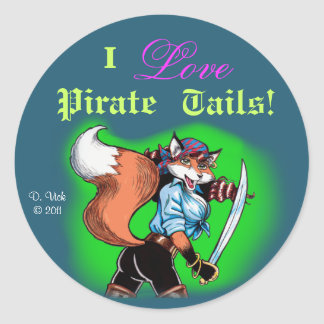 Pirate Tails Sticker