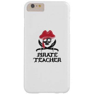 Pirate Teacher-Jolly Roger Skull Crossbones Barely There iPhone 6 Plus Case