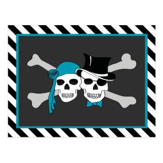 pirate theme party postcard