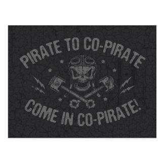 Pirate to Co-Pirate II Postcard