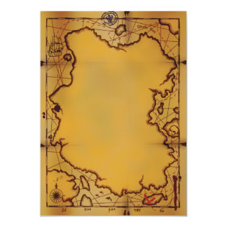 Pirate Treasure Map Invitations