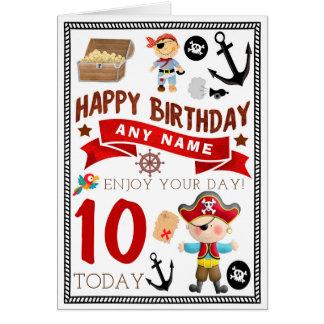 Pirate Treasure Personalised Birthday Card