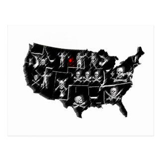 PIRATE USA POSTCARD