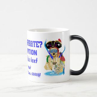 Pirate Water Conservation Customize All Styles 11 Oz Magic Heat Color-Changing Coffee Mug