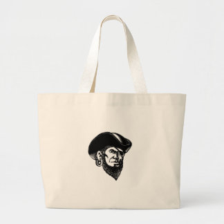 Pirate Wearing Eye Patch Scratchboard Large Tote Bag