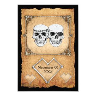 "pirate wedding 3.5"" x 5"" invitation card"