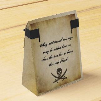 Pirate Wedding Favor Tent Box