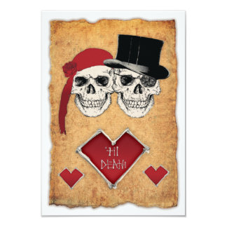 pirate wedding 3.5x5 paper invitation card