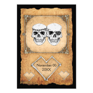 pirate wedding custom invites