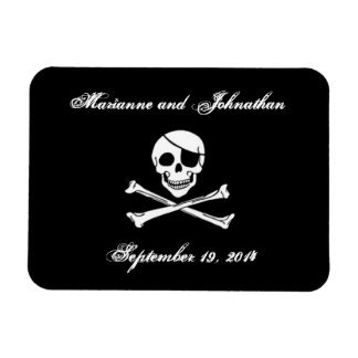 Pirate Wedding Save the Date Magnet
