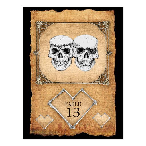 pirate wedding table numbers postcards